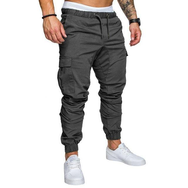 FGFD Pantalones de Hombre Jogger Deportivos Pantal/ón Cargo Casuales Chino de Algod/ón Pants Sueltos Ocasionales