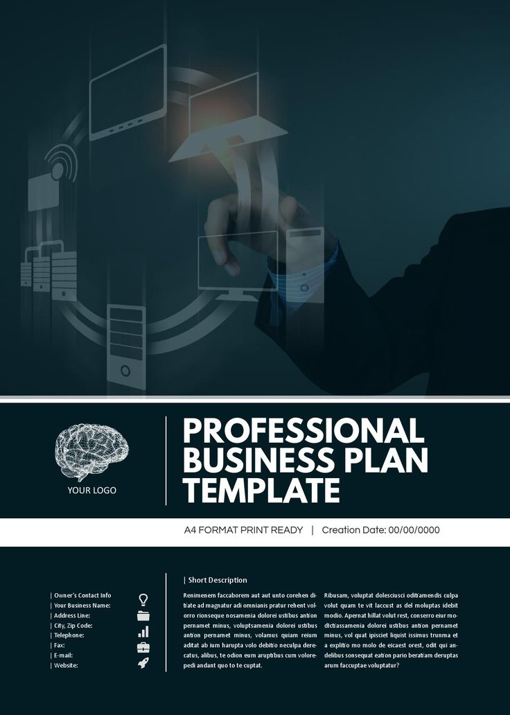 Professional Business Plan Template  Models Printers And