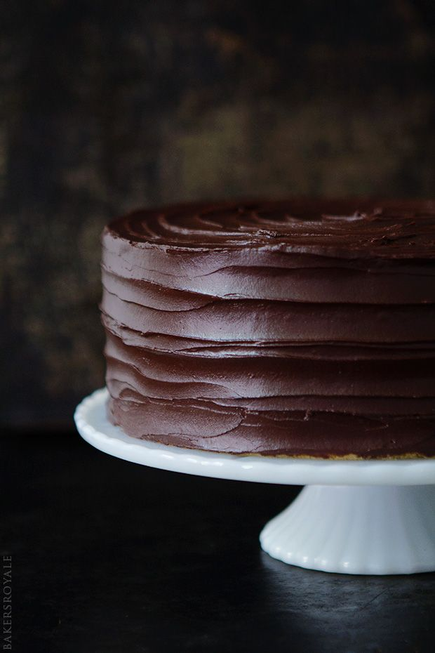 Browned Butter-Banana Cake with Salted Dark Chocolate Ganache from Bakers Royale
