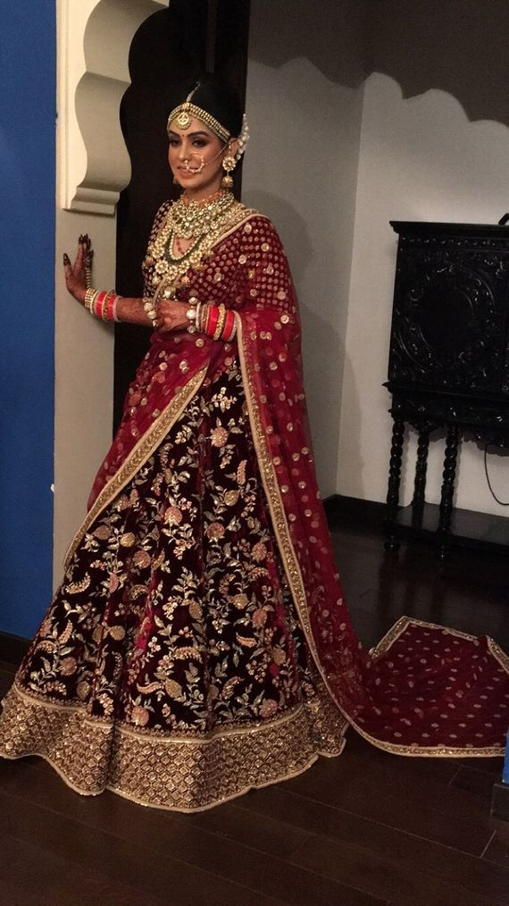 Portfolio Of Shahid S Makeover Bridal Makeup In Amritsar Wedmegood Indian Bridal Outfits Indian Bridal Dress Bridal Lehenga Red