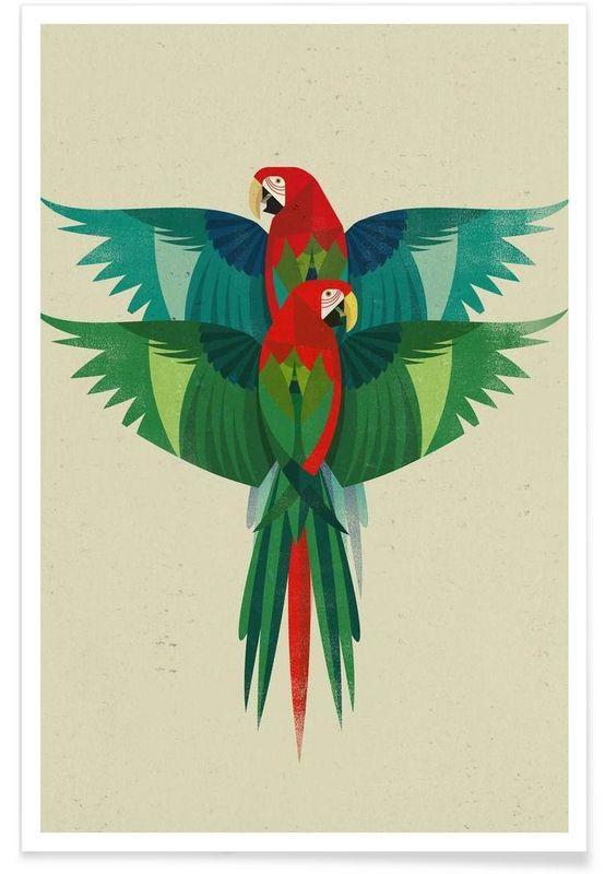 Ara en Affiche premium par Dieter Braun   JUNIQE
