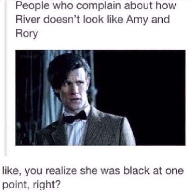 Exactly! She is part Time Lord, and she has been through AT LEAST three regenerations (according to the ones we see on screen). The dialogue might even mention more regenerations. Each regeneration changes not only looks, but part of the personality as well, so of course River doesn't look like, sound like, or act like the Ponds!