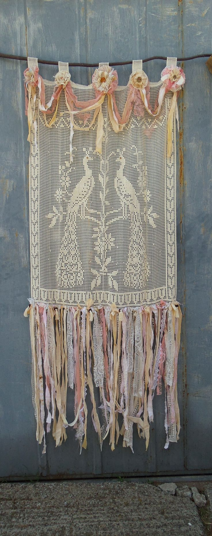Gypsy shabby chic curtains - Shabby Chic Curtain Panels Ready To Ship French Cottage Chic Tab Top Curtain Wedding Backdrop Room Divider Beach Wedding Boho Chic Gypsy