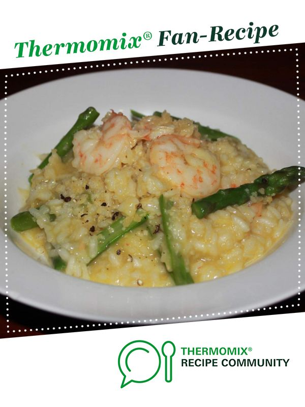 Prawn and Asparagus Risotto by Mariko. A Thermomix <sup>®</sup> recipe in the category Pasta & rice dishes on www.recipecommunity.com.au, the Thermomix <sup>®</sup> Community.