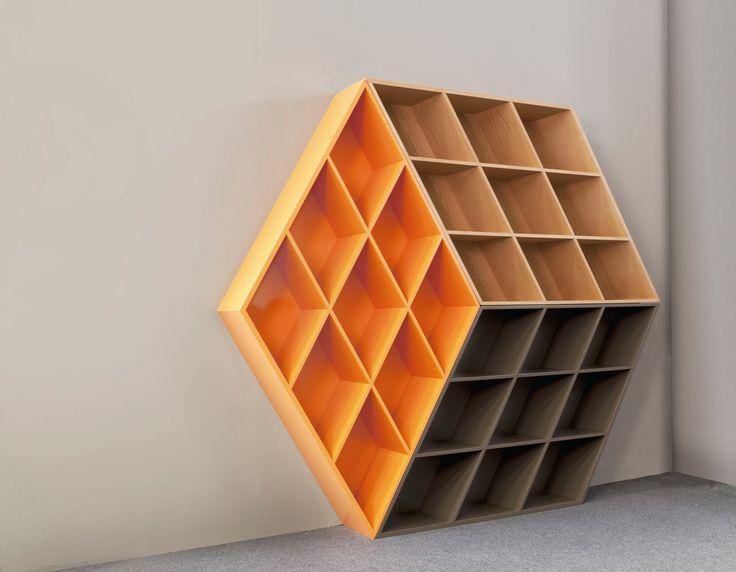 Rubika-B601-Shelf-George-Bosnas-Anesis-1 Estante inspirada no cubo de rubik…