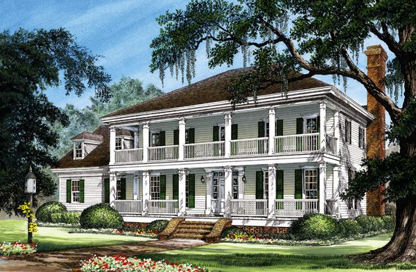 Colonial cottage country farmhouse southern traditional for Farmhouse colonial house plans