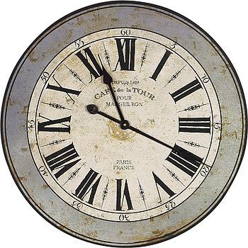Large French Cafe Wall Clock
