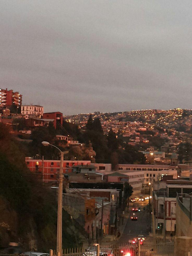 Desde cerro Barón, ciudad Valparaíso, Chile.