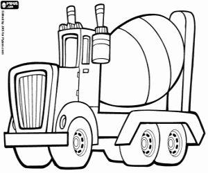 Omalovánka Vůz nese beton