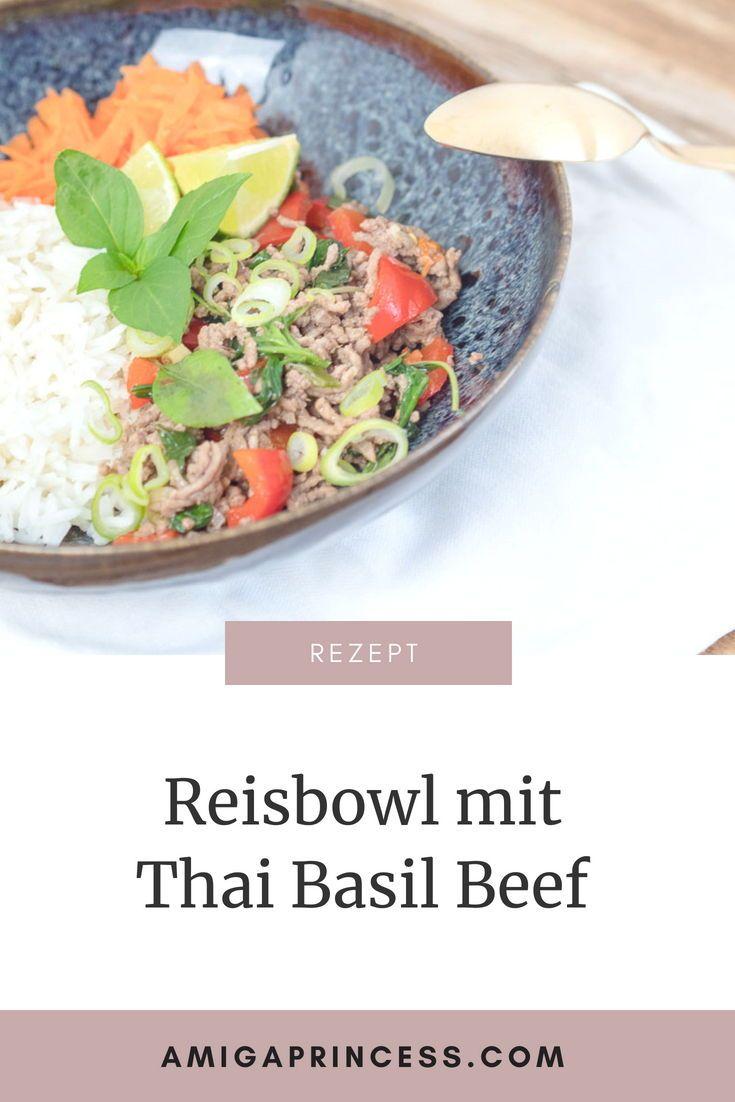 Thai Basil Beef, thailändische Küche, schnell und einfach ...