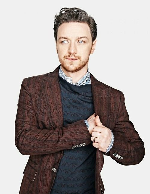James Mcavoy || navy + brown. some interesting patterns + texture too.