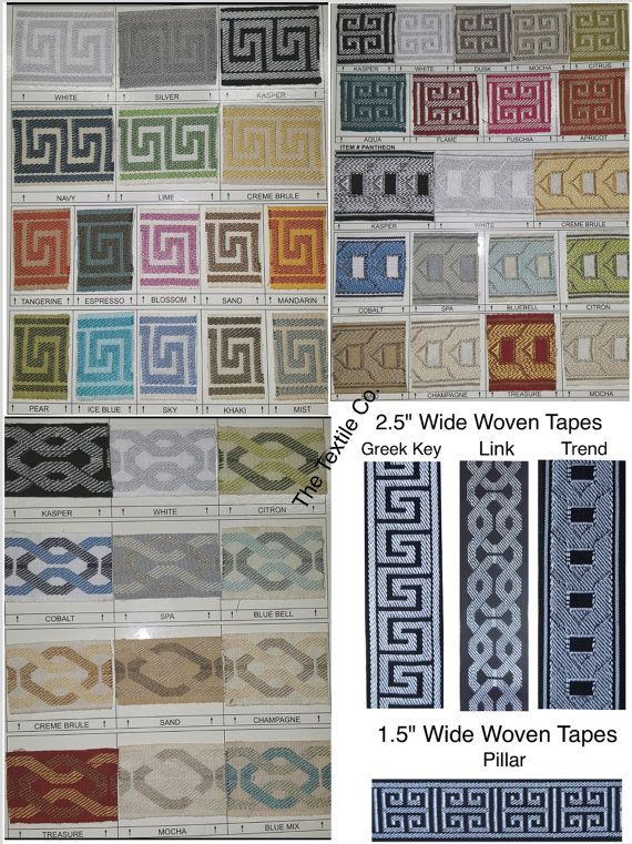 Greek Key and Decorative Trim Tapes by thetextileco on Etsy