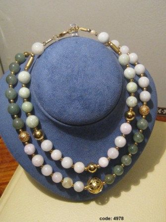 low key elegance with jade and greenstone necklaces by NecklaceTech on Etsy