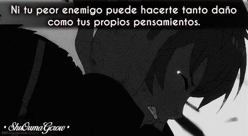 Ni tu peor enemigo#ShuOumaGcrow #Anime #Frases_anime #frases