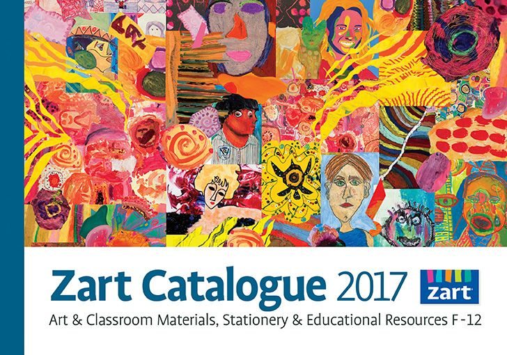 All the tools for your school art projects are found in the 2017 Zart Art catalogue!