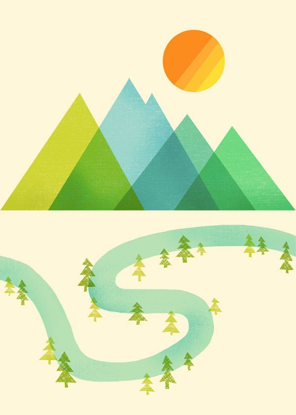 The mountains and the sun (both the lines and the colors) in this travel logo design are great!