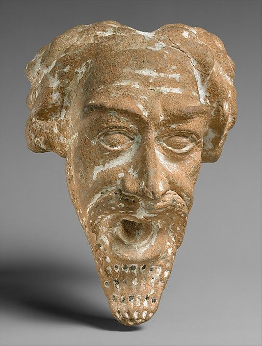 Spout in the form of a man's head, Parthian period, ca 1st-2nd century AD, Iran