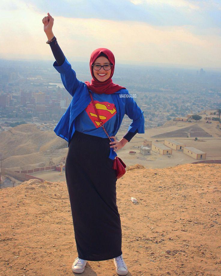 Hijab supergirl by Maie Khaled