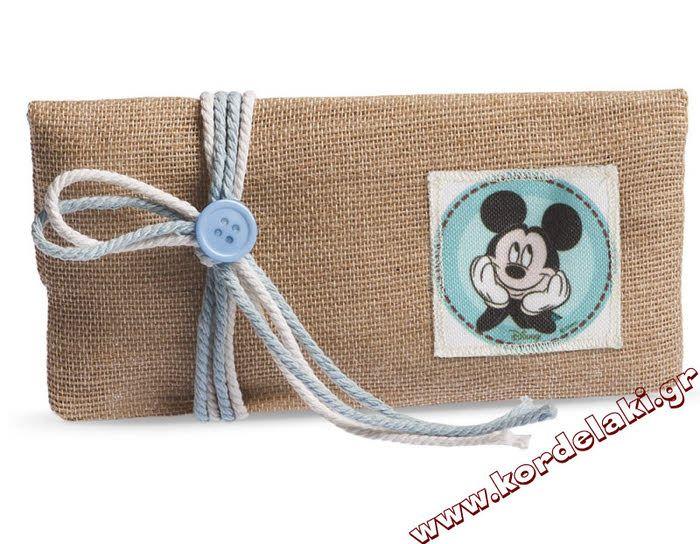 Πουγκί φάκελος Mickey mouse για μπομπονιέρες βάπτισης