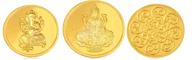 6 gm 24kt Gold Coin @ Rs.18666 (Rs.3111 per gram)