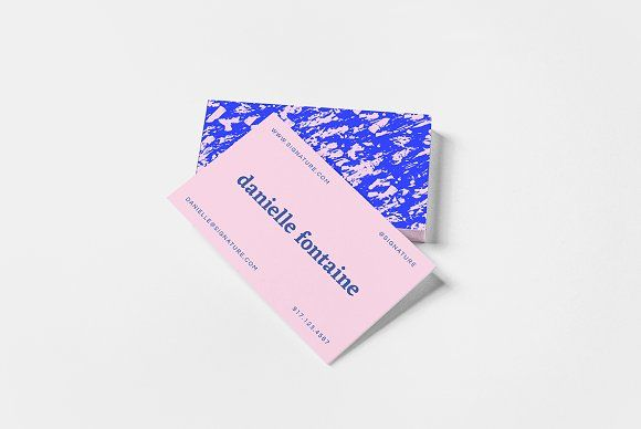 Marble Abstractions Business Card II @creativework247