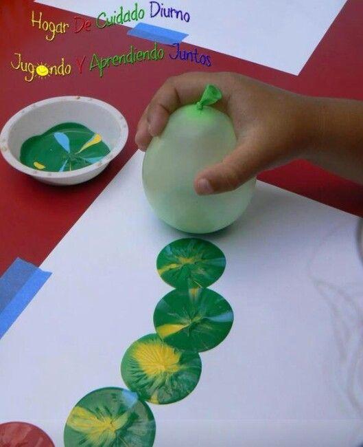 peinture au ballon de baudruche