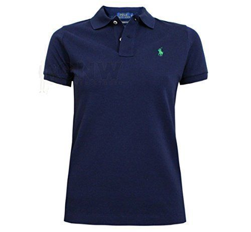 Ralph Lauren  WOMENS SKINNY POLO T-SHIRT BLACK, BLUE , NAVY, WHITE S/M/L/XL (Small, Navy - Green Logo) This Slim-Fitting polo shirt is crafted from breathable cotton mesh and finished with our signature pony embroidery. (Barcode EAN = 5055744515360). http://www.comparestoreprices.co.uk/december-2016-5/ralph-lauren-womens-skinny-polo-t-shirt-black-blue--navy-white-s-m-l-xl-small-navy--green-logo-.asp