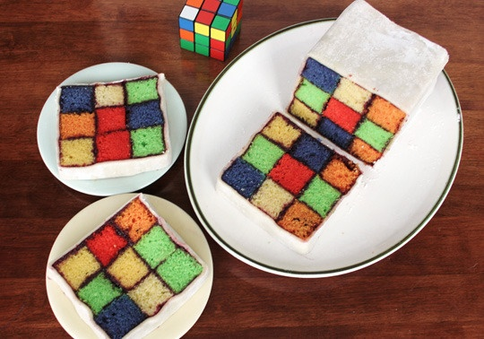 A Rubik's Cube Birthday Cake  #recipe  #birthday  Would you guys have this for a retro-themed birthday party?