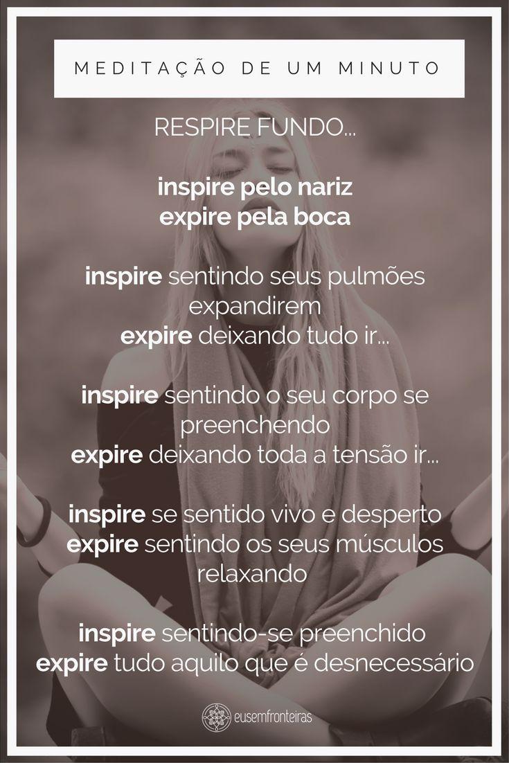 Aplique a meditação na sua vida! #meditação #meditaçãodeumminuto