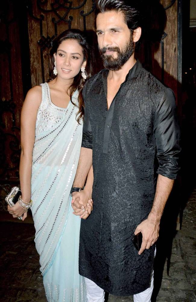 Mira Rajput and Shahid Kapoor at Anil Kapoor's Diwali bash