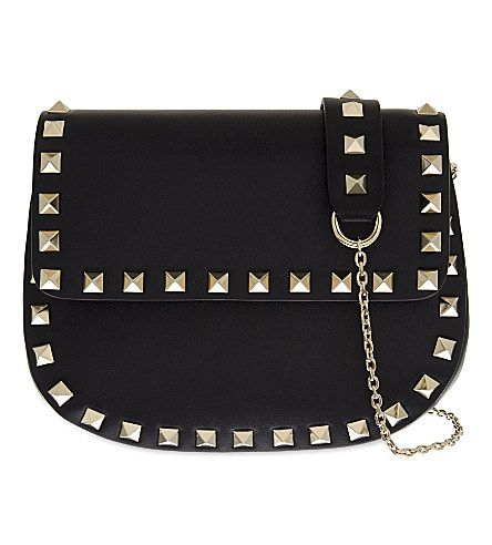 VALENTINO Rockstud Leather Saddle Cross-Body Bag                                                                                                                                                     More