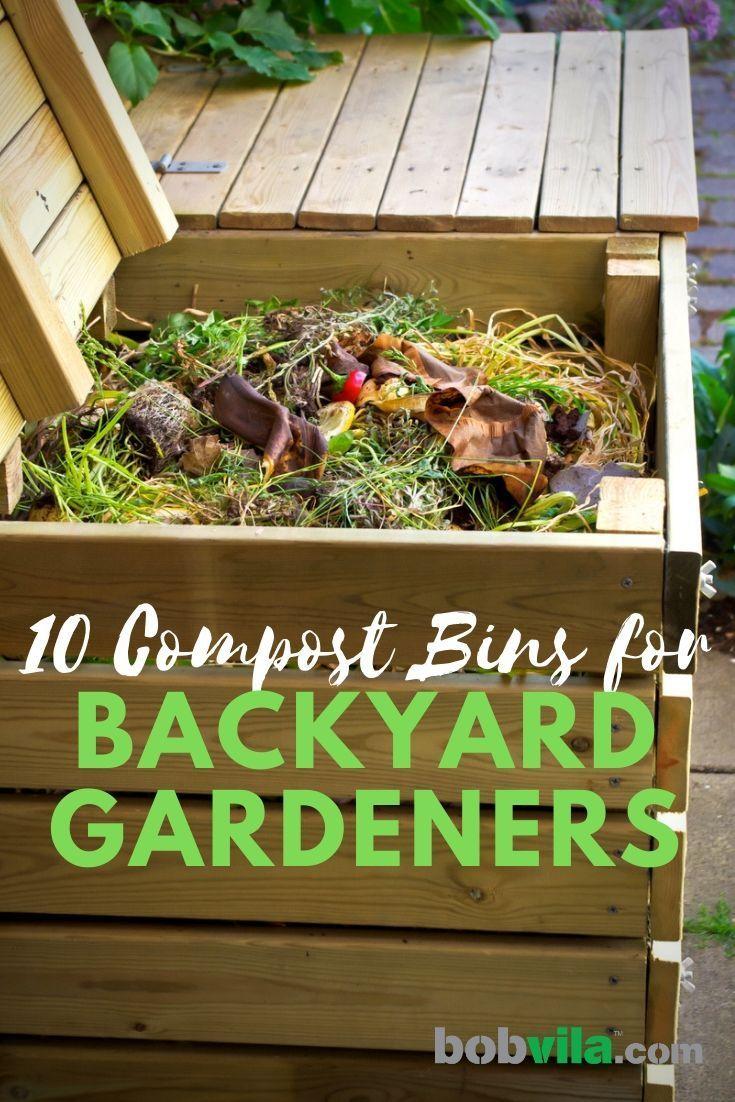10 Compost Bins For Backyard Gardeners Homemade Compost Bin Compost Compost Bin Diy backyard compost bin
