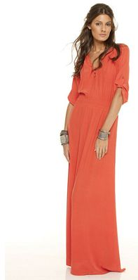 .Dress: Long Dresses, Summer Dresses, Fall Maxi, Style, Orange Maxi, Color, Maxi I, Coral Maxi Dresses, Long Coral Dresses