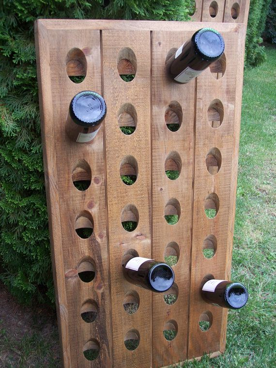 Best 20 riddling rack ideas on pinterest rustic wine for Pottery barn wine rack wood