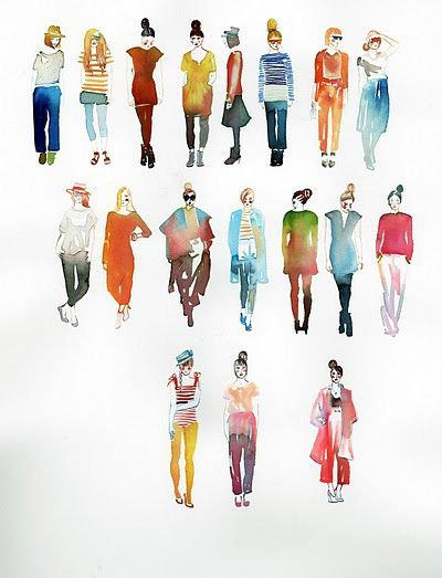 watercolor figures, my teachers have always said if you can paint the human form, you can paint anything.