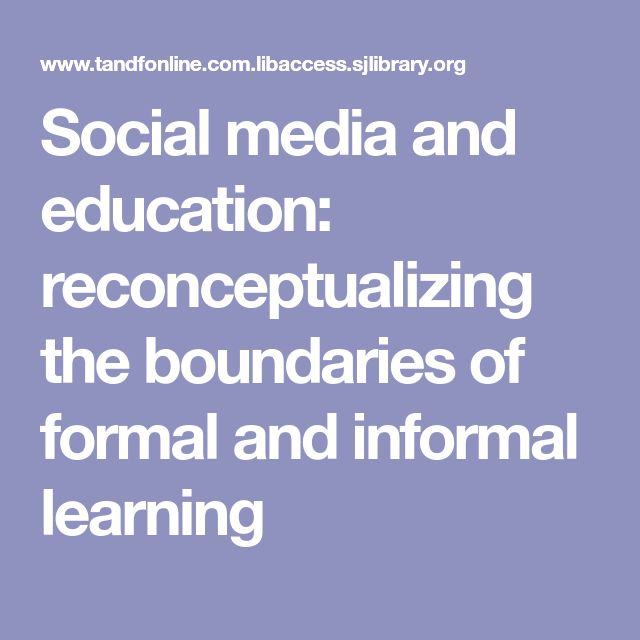 my education formal and informal learning Informal training is less effective than formal training if one should intentionally be learning a specific area of knowledge or skill in a timely fashion hardly any thought is put into what learning is to occur and whether that learning occurred or not.