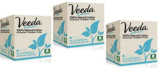 $6.99 + $3.99 expedited 6-day shipping via Amazon.com: Veeda Natural All-Cotton Tampons, Lite / Light, Compact Applicator, 3 Boxes of 16 Count Each: Health & Personal Care | Major brands no longer selling compact lights in stores
