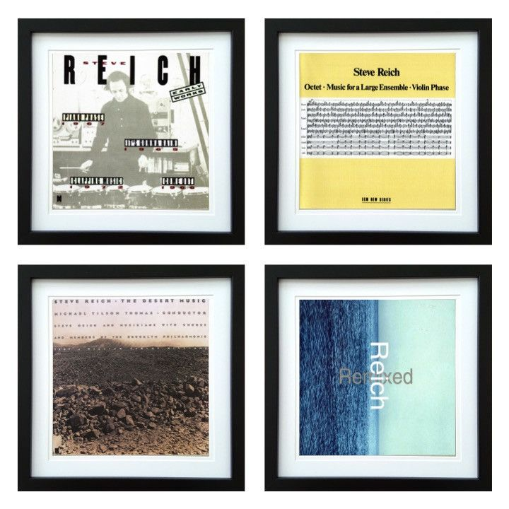Steve Reich | Framed Album Art Set of 4 Images | ArtRockStore