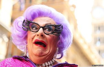 Barry Humphries dressed as Dame Edna Everage. The rise and fall of Australian slang. Australians have long been famed for their rich and varied vocabulary of slang expressions, but experts say a new generation of Australians is coining fewer of them and borrowing more from abroad. #Australia #Australian #Aussie #Aussies #slang #language #strine
