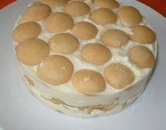 Pudingy uvaříme v 1/2 litru mléka a vmícháme tvaroh s cukrem. Dno dortové formy poklademe piškoty a ovocem, nalijeme asi polovinu hmoty, kterou...