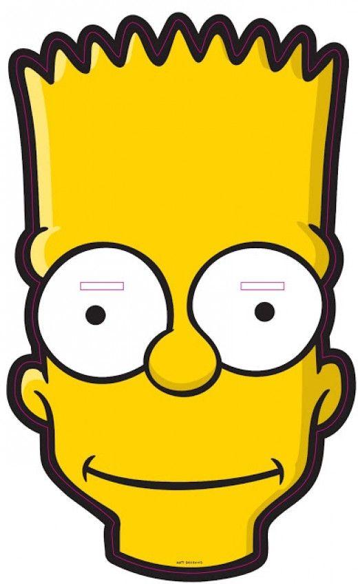 Free Printable Character Face Masks: Bart Simpson