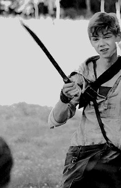 """Newt Imagine: Some glader accuses you of kissing Thomas and Newt gets mad so he pulls out his machete and says, """"It's not her fault. Yeah?"""""""