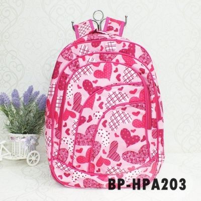 Heart Pink Backpack Ransel IMPORT Murah Berkualitas