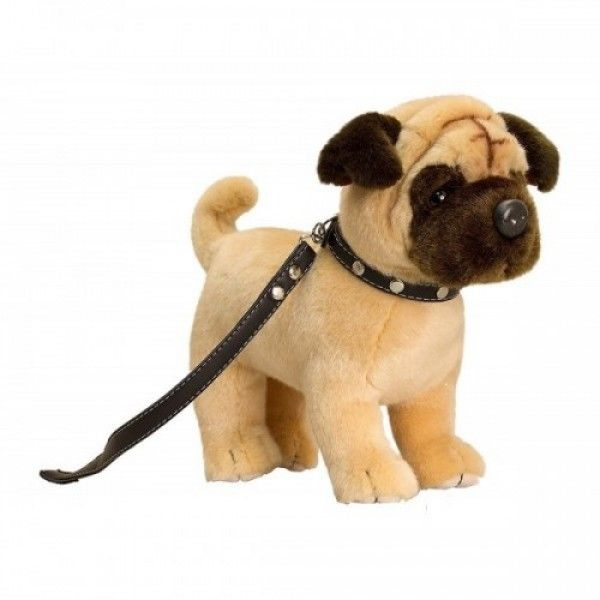 This Keel Toys 30cm Standing Pug On Lead Is An Adorable Companion