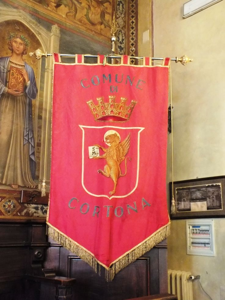 Cortona's banner with St. mark's Lion