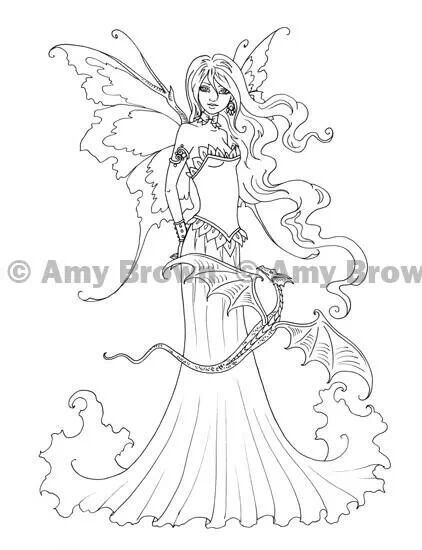 Fairy with dragon Drawings