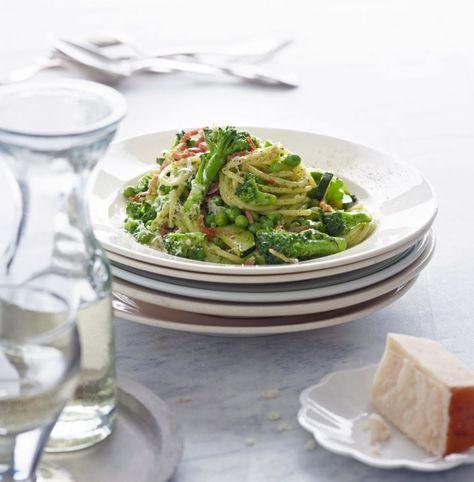 Rezept für Pasta mit Brokkoli und Pesto bei Essen und Trinken. Und weitere Rezepte in den Kategorien Gemüse, Gewürze, Käseprodukte, Kräuter, Milch + Milchprodukte, Nudeln / Pasta, Schwein, Hauptspeise, Blanchieren, Braten, Dünsten, Italienisch, Einfach, Schnell, Hülsenfrüchte.