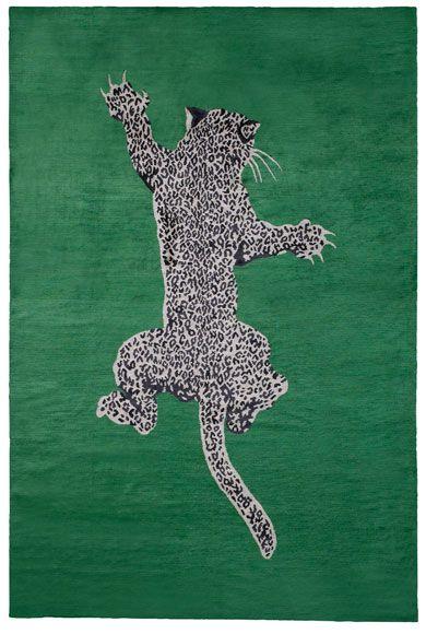 CLIMBING LEOPARD  DIANE VON FURSTENBERG  Designer Collection  Silk Rugs    Nepalese Rug  150 knot, Silk