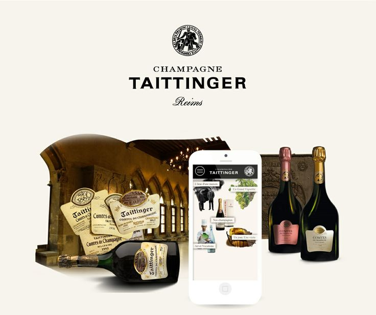 Stratégie et webdesign mobile - Strategy & mobile webdesign #luxe #champagne #website #mobile