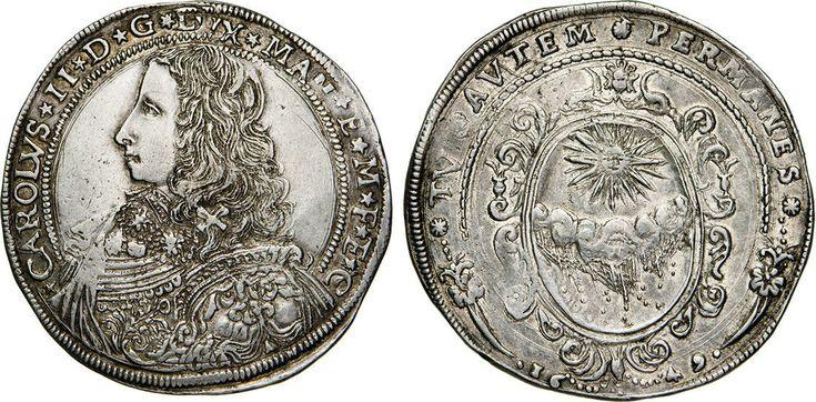NumisBids: Numismatica Varesi s.a.s. Auction 65, Lot 416 : MANTOVA - CARLO II GONZAGA/NEVERS (1647-1665) Ducatone 1649 detto...